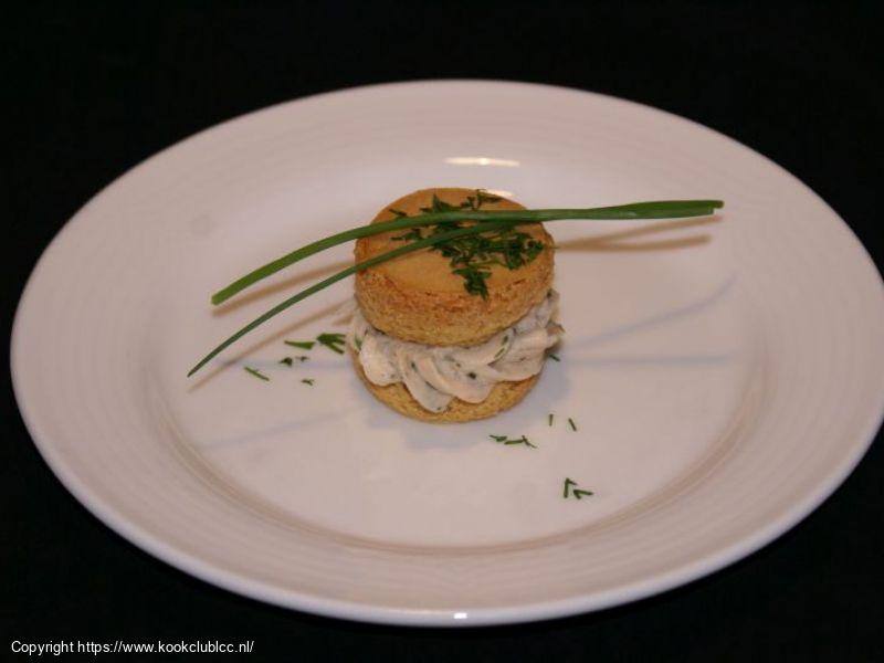 1 Macarons met gerookte zalm