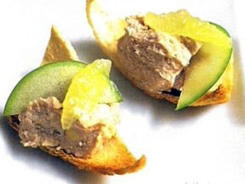 Paté van paling met appel en limoen